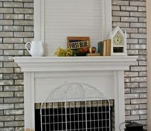 fireplace mantel beadboard addition, diy, fireplaces mantels, wall decor, woodworking projects