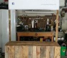pallet display table build project, diy, pallet, repurposing upcycling, woodworking projects