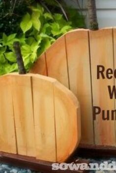 diy recycled wood pumpkins, diy, seasonal holiday decor, woodworking projects