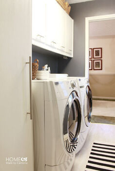 laundry room makeover white fresh, home decor, laundry rooms, organizing, storage ideas