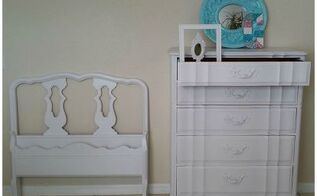 re doing my girl s room started with these french provincial pieces, bedroom ideas, painted furniture