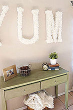 wall art coffee filter repurpose letters, crafts, dining room ideas, repurposing upcycling, wall decor