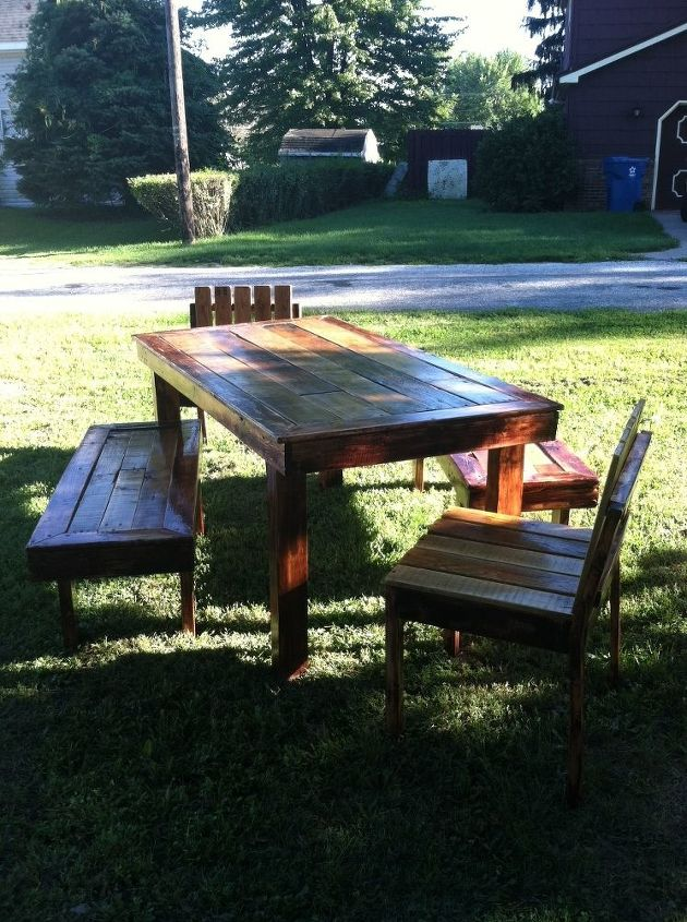 farm house table made from pallets hometalk