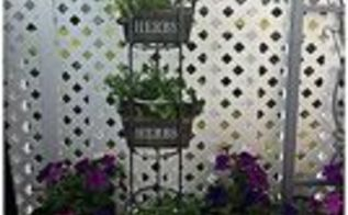 gardening cd tower turned herb rack, gardening, repurposing upcycling, Highrise Herb Garden from starrcreative