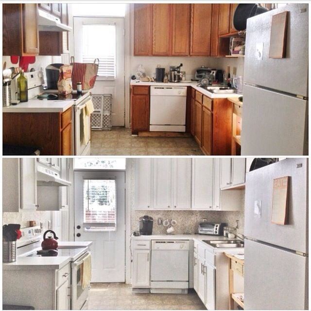 Before after 387 budget kitchen update hometalk for Diy small kitchen remodel