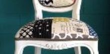 chair quilted patchwork upholstery bold funky fun, reupholster