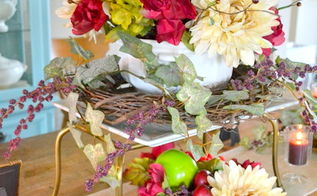 fall tablescape decor thrifted floral, home decor, seasonal holiday decor