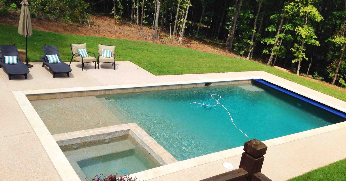 backyard pool building lowes gunite kool deck outdoor living pool designs the finished