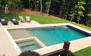 backyard pool building lowes gunite kool deck, outdoor living, pool designs, The finished product