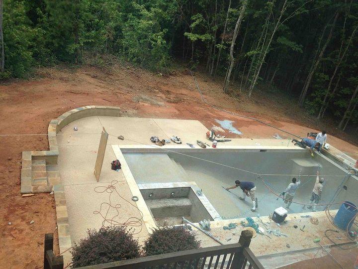 cool deck designs building a backyard pool hometalk