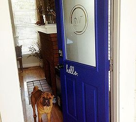 front door makeover stencil blue budget diy doors & $49 Front Door Makeover | Hometalk Pezcame.Com