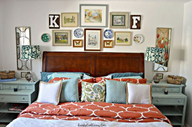 An eclectic cottage bedroom makeover hometalk for Eclectic bedroom sets