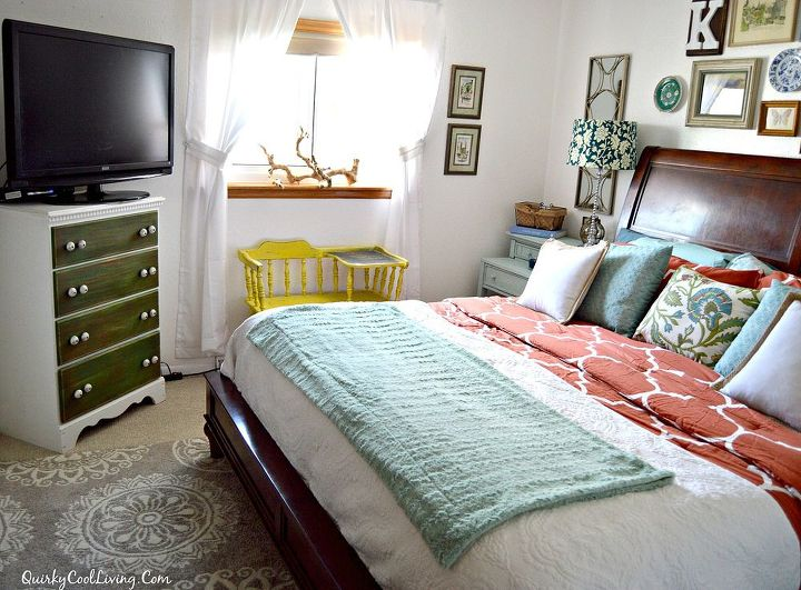 An Eclectic Cottage Bedroom Makeover