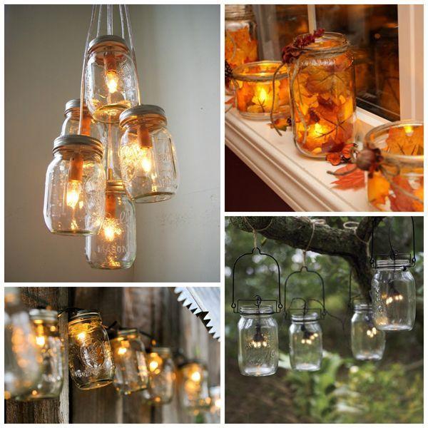 Fall Decor Mason Jar Inspiration Crafts Home Decor Lighting Mason Jars
