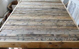 pallet counter top progress build, countertops, diy, pallet, woodworking projects
