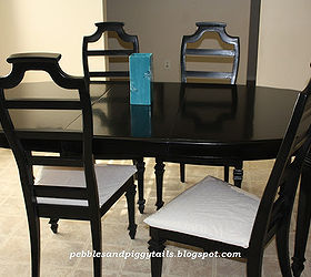 Painted Furniture Dining Table Black Redo, Dining Room Ideas, Diy, Painted  Furniture,