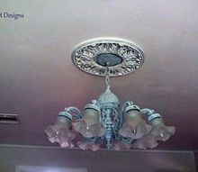 shabby chic chandelier brass antique update, lighting, painting, shabby chic, PJH Designs