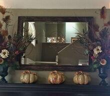 fall floral mantel arrangements budget hobby lobby, fireplaces mantels, home decor