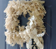 fall decor wreath square burlap boo, crafts, wreaths