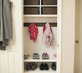 Organizing Coat Closet Mini Mudroom, Closet, Foyer, Organizing, Storage  Ideas