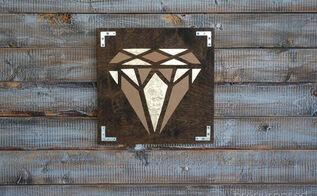 diy geometric diamond art, crafts, diy, home decor, wall decor