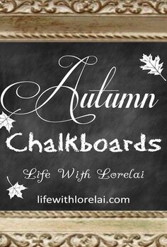 autumn chalkboards collection life with lorelai