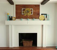 fireplace redo cottage chic brick white, diy, fireplaces mantels, home decor, wall decor