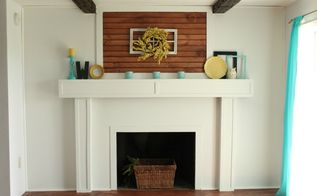 fireplace redo cottage chic brick white, diy, fireplaces mantels, home decor, wall decor