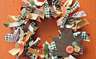 make a fall wreath with ribbons, crafts, seasonal holiday decor, thanksgiving decorations, wreaths