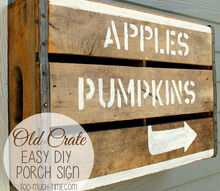 old crate fall sign, crafts, curb appeal, repurposing upcycling, seasonal holiday decor