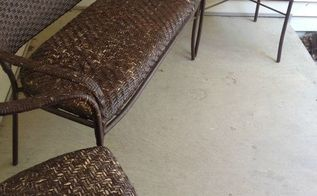 outdoor furniture wicker redo refinish, outdoor furniture, painted furniture, repurposing upcycling, reupholster