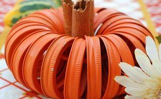 crafts fall canning jar lid pumpkin, crafts, halloween decorations, how to, repurposing upcycling, seasonal holiday decor