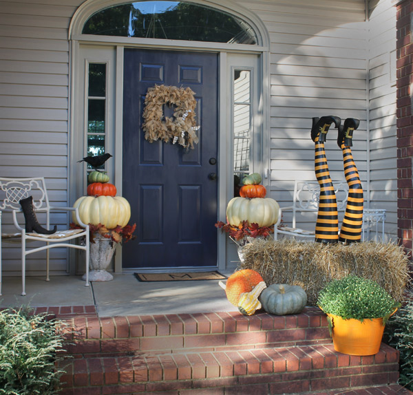 Witch leg halloween decorations hometalk - Where can i buy halloween decorations ...