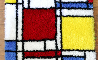 mondrian inspired rug tutorial free pattern, flooring, how to, reupholster