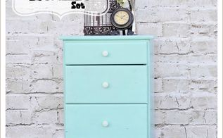 painted furniture side table teal vintage antiquing powder, painted furniture