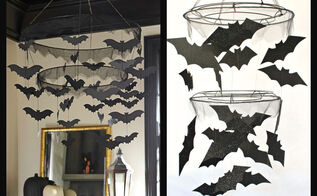 halloween decorations bat chandelier pbk inspired, crafts, halloween decorations, seasonal holiday decor
