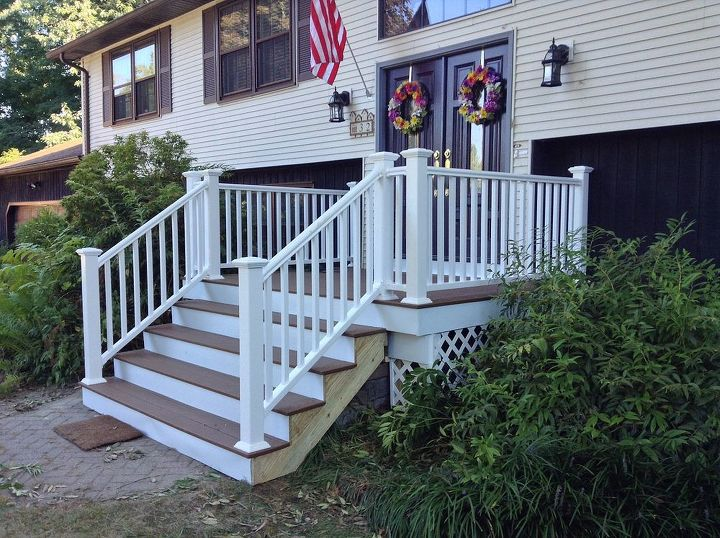 front porch stairs renovation redo upgrade, curb appeal, porches - Scary Front Steps To Stunning Porch! Hometalk