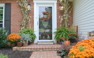 fall porch upcycled garden, porches, seasonal holiday decor