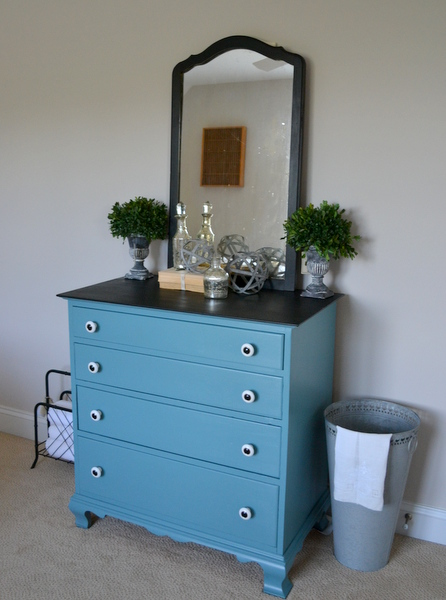 painted furniture dresser vintage blue black painted furniture