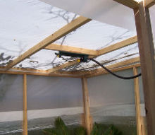 gardening greenhouse build budget winter protection plants, diy, gardening, woodworking projects, Easy Overhead Watering System