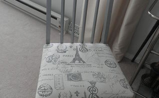 chair makeover french inspired garage sale thrift, home decor, painted furniture, reupholster