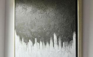 wall art modern metallic thrift store canvas, crafts, home decor, painting