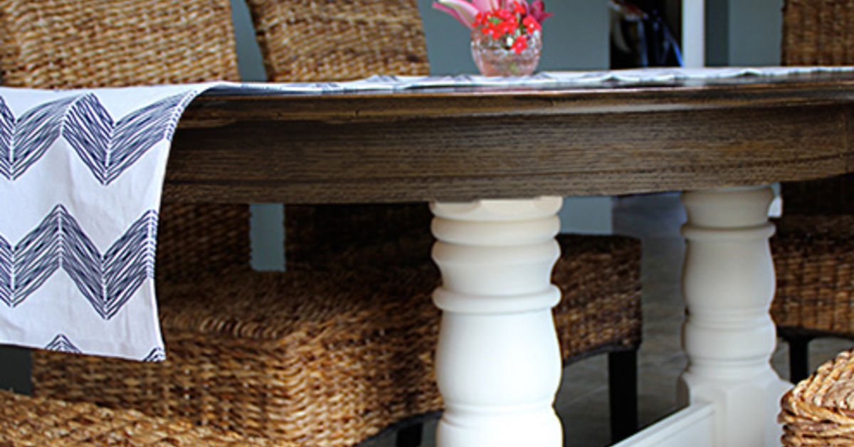 Diy refinish an old oak table hometalk - Refinish contemporary dining room tables ...