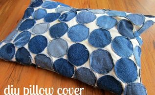 create a pillow cover from your clothes, crafts, repurposing upcycling