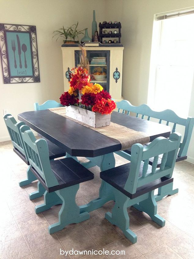Painted Furniture Craigslist Table Set Makeover Chalk Paint Home Decor
