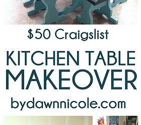 Painted Furniture Craigslist Table Set Makeover, Chalk Paint, Home Decor,  Painted Furniture