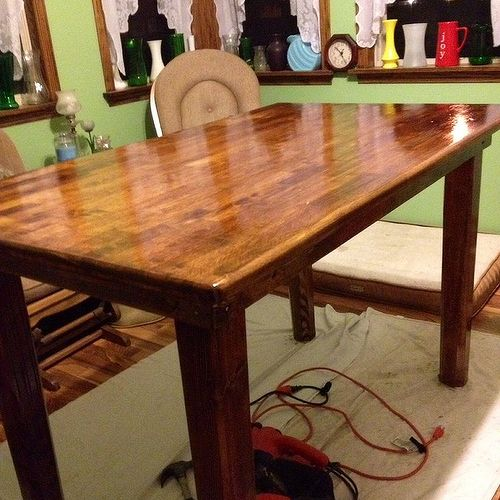 sealing a cedar kitchen table hometalk