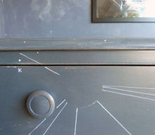 a dresser inspired by astronomy, painted furniture