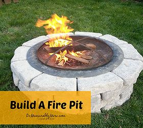 Build A Fire Pit, How To, Outdoor Living
