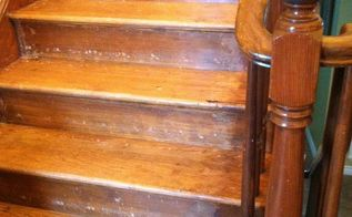 q reconditioning or refinishing wood staircase, foyer, painting, stairs, woodworking projects
